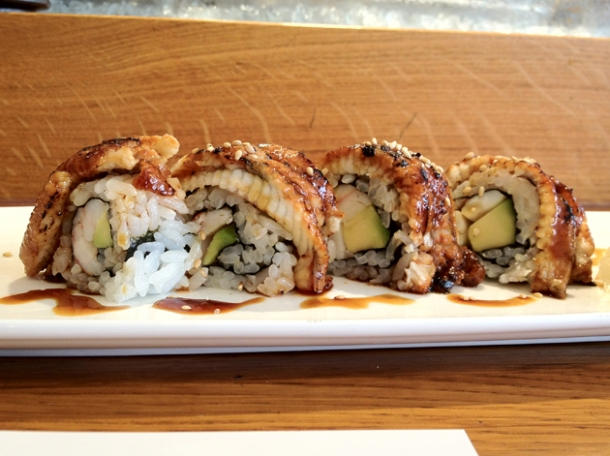 dragon sushi rolls at toku