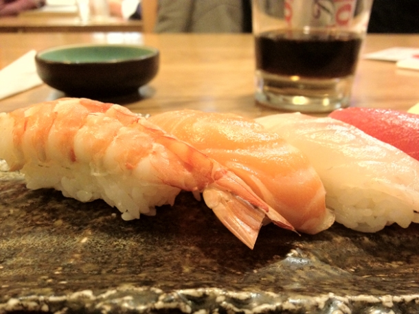 nigiri sushi at toku