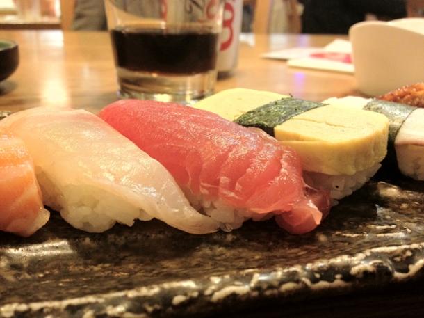 nigiri sushi rolls at toku