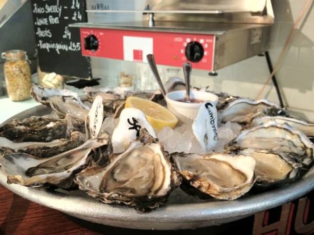oysters at wright bros kingly street