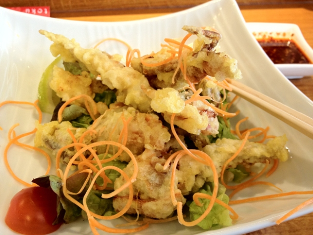 soft shell crab tempura at toku