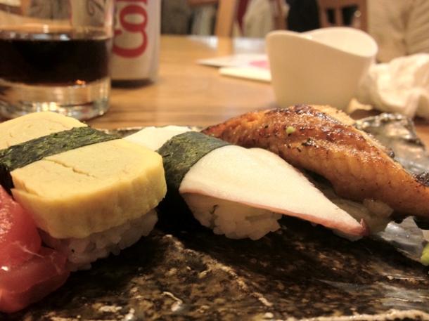 sushi rolls at toku