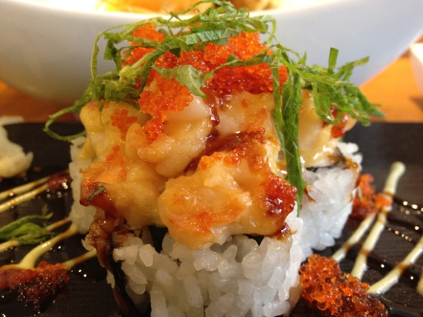 tower of london sushi rolls at toku