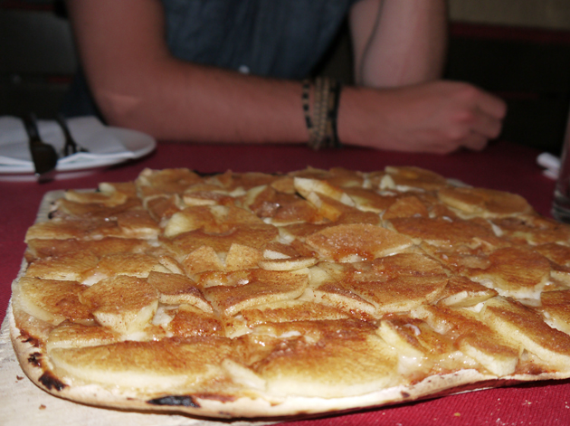 apple, cinnamon and calvados tarte flambée at Renger-Patzsch