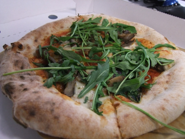 aubergine and rocket pizza pilgrims