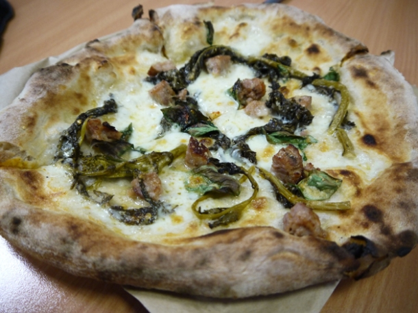 sausage and wild broccoli bianca pizza pilgrims