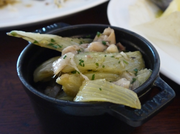 braised fennel and trotters at hawksmoor air street