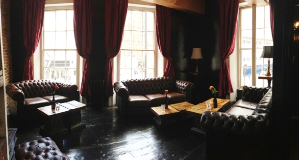 first floor lounge at the old crown new oxford street