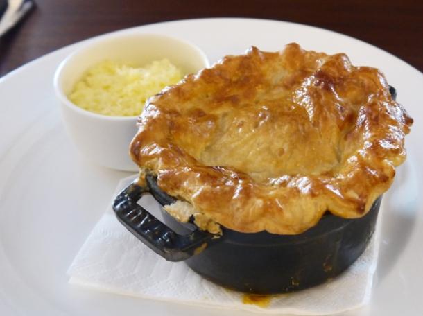 fish soup pie crust at hawksmoor air street