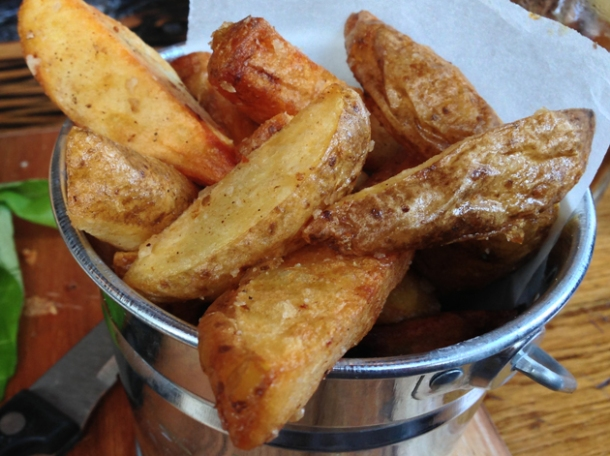 horseradish salt chips at burger breakout at the old crown new oxford street