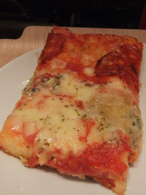 salami and blue cheese pizza at princi