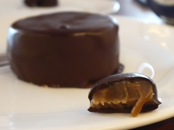 salted caramel rolo chocolate at hawksmoor air street