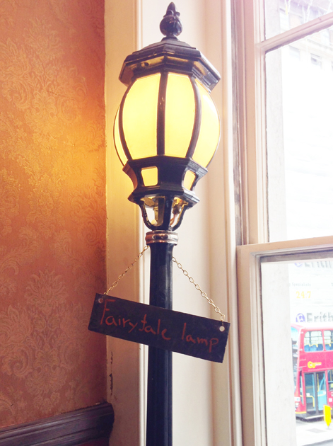 fairy tale lamp post at the old crown