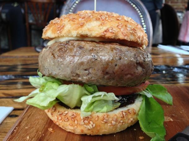the o.c. burger at burger breakout at the old crown