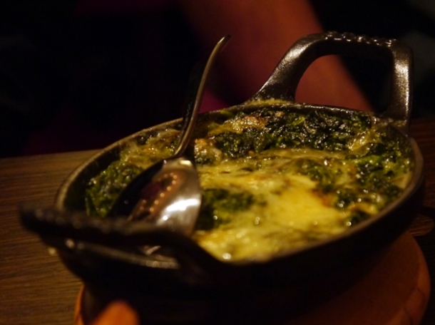creamed spinach at Mash