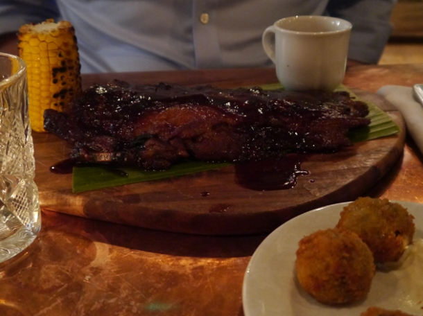 half rack of ribs starter at beard to tail
