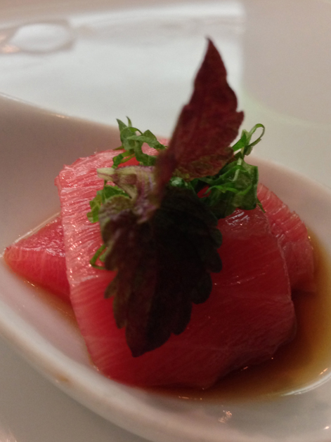 tuna sashimi at dinings