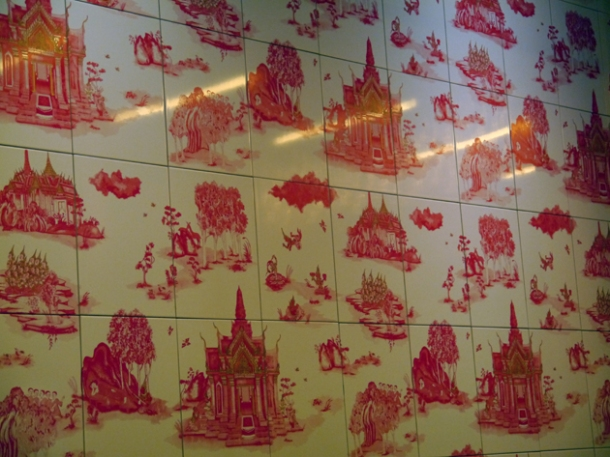 wall tiles at naamyaa cafe