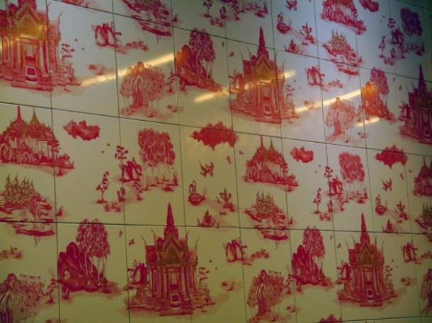 wall tiles at naamyaa cafe