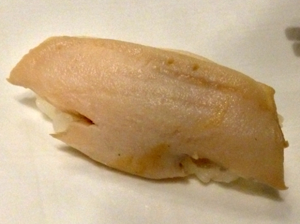 abalone nigiri sushi at wabi