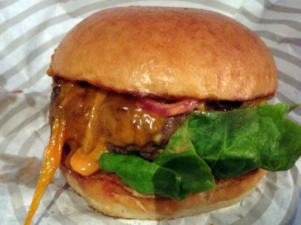 ari gold burger at patty and bun