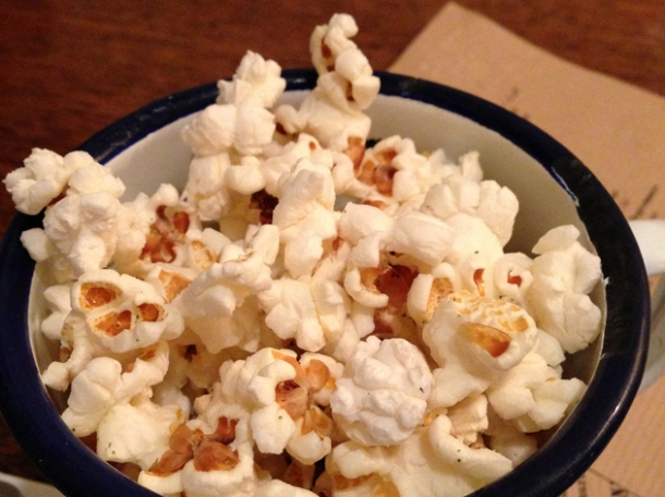 beef dripping popcorn at flat iron