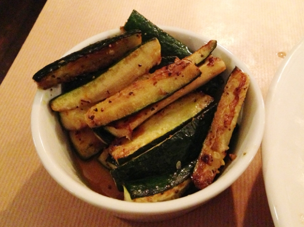 zucchini roasted in saffron oil at season stroud green road