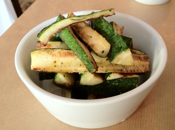 courgettes roasted in saffron oil at season