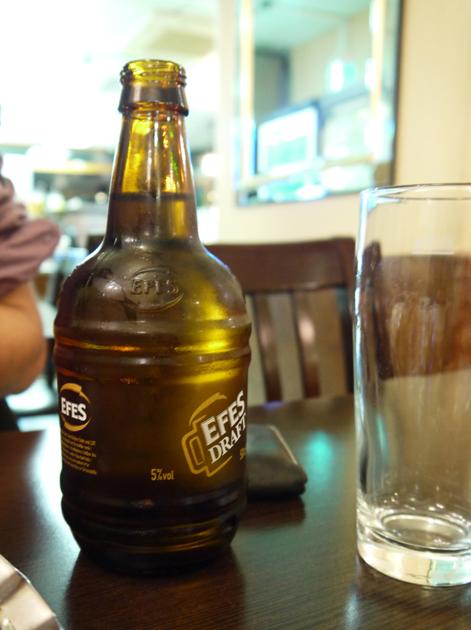 efes draft beer at yayla green lanes