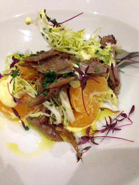 goose confit and clementine salad at 10 greek street