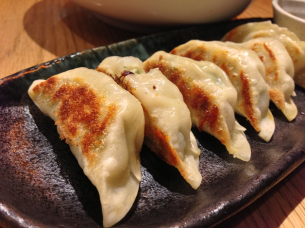 pork gyoza at shoryu