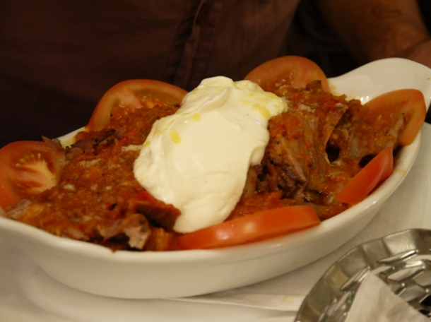 iskender kebab at yayla