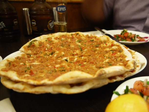 lahmacun turkish pizza at yayla