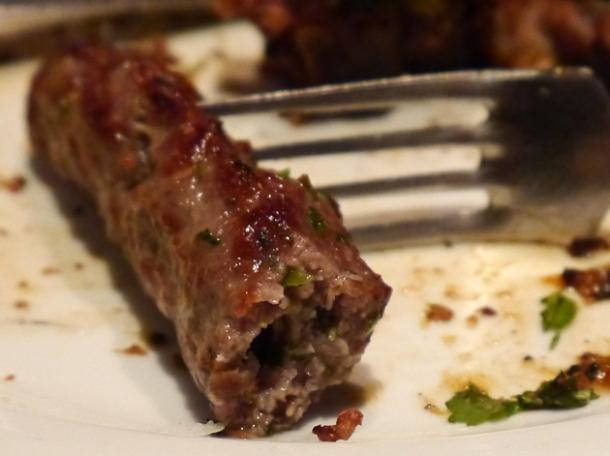 lamb sheekh kebab at malibu club