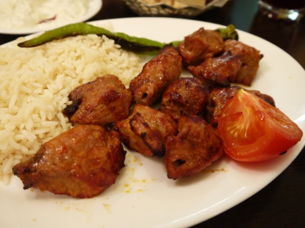 lamb shish kebab at yayla green lanes