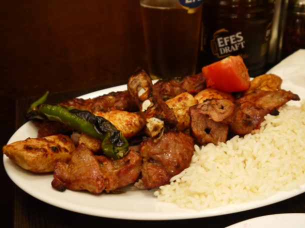 mixed kebab at yayla green lanes
