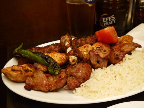 mixed kebab at yayla green lanes