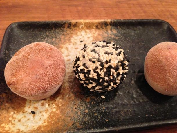 mochi ice cream at tonkotsu
