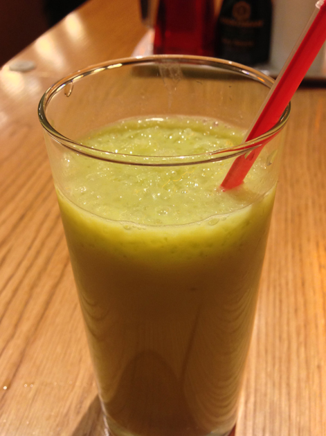 orange matcha smoothie at shoryu