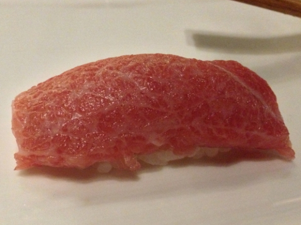 otoro tuna nigiri at wabi