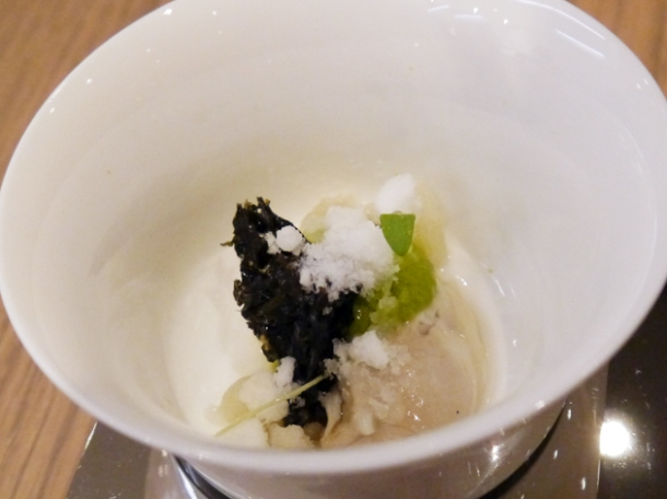 oyster amuse bouche at bo london