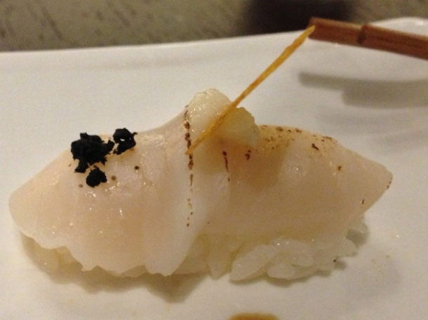 scallop nigiri sushi at wabi