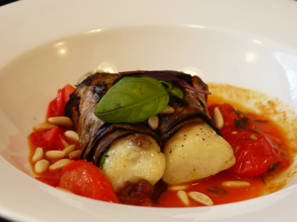 gnocchi, tomato and aubergine at 10 greek street
