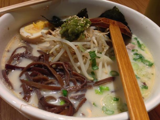wasabi tonkotsu ramen at shoryu
