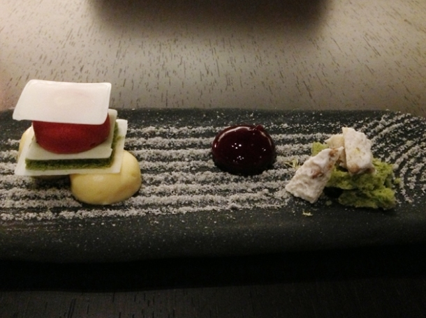 japanese rock garden dessert at wabi