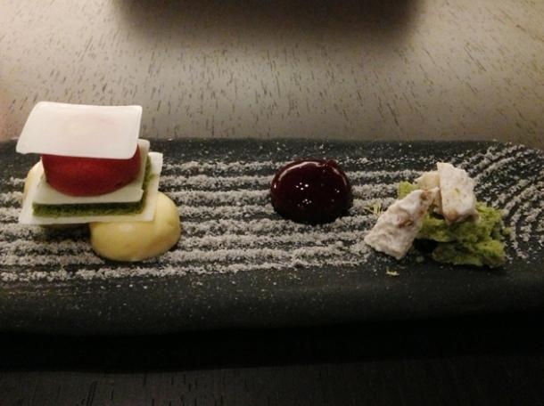 japanese rock garden dessert at wabi