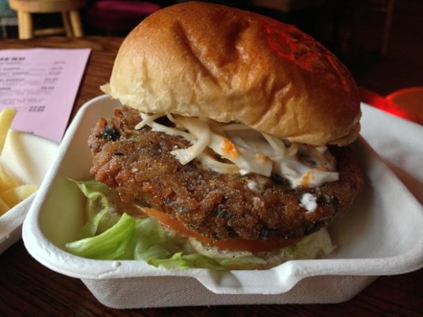 arancini burger at kimchi cult