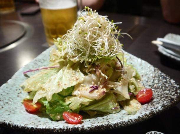beansprout salad at moe yakiniku taipei
