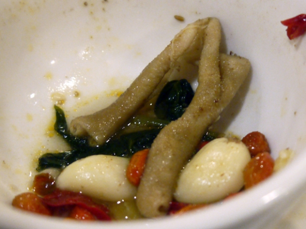 cooked intestines at tian xiang huwei hot pot