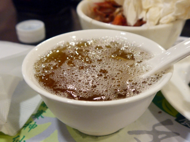 grass jelly at tian xiang huwei hot pot